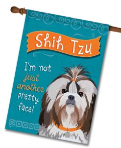 Shih Tzu- House Flag - 28'' x 40''