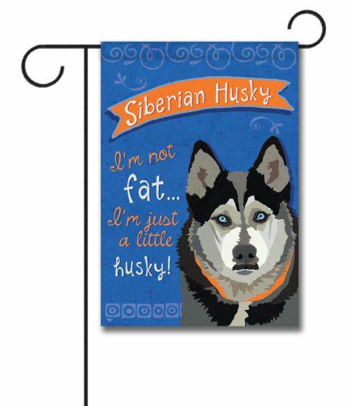Siberian Husky- Garden Flag - 12.5'' x 18''
