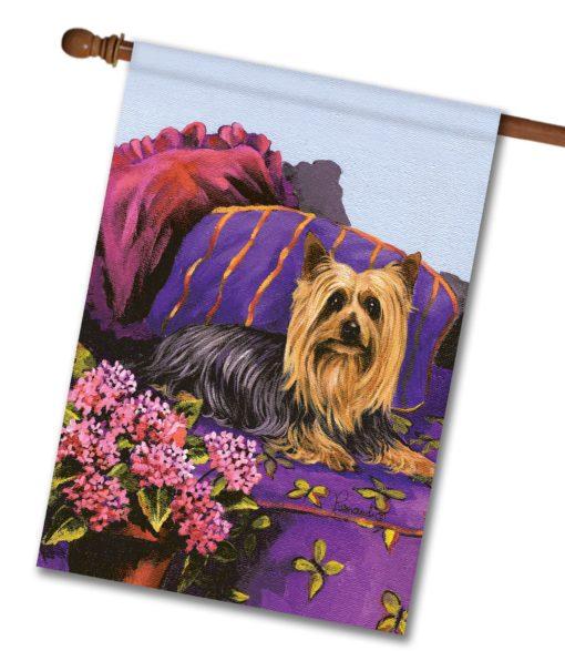 Silky Terrier Luxurious Silk - House Flag - 28'' x 40''