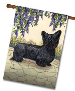 Skye Terrier Garden - House Flag - 28'' x 40''