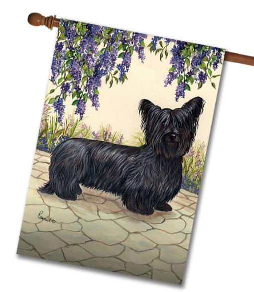 Skye Terrier Garden - House Flag - 28'' x 40''