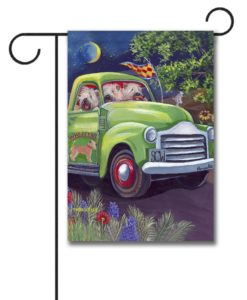 Soft Coated Wheaten Zoom - Garden Flag - 12.5'' x 18''