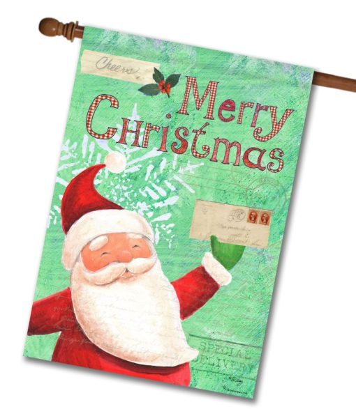 Special Delivery Santa- House Flag - 28'' x 40''