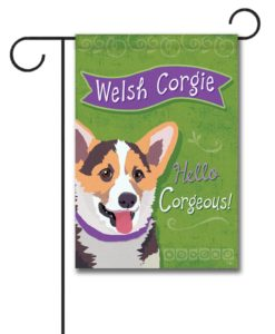 Welsh Corgi- Garden Flag - 12.5'' x 18''