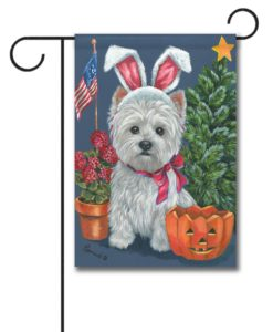 West Highland Terrier 4 Seasons - Garden Flag - 12.5'' x 18''