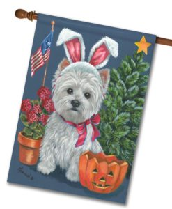 West Highland Terrier 4 Seasons- House Flag - 28'' x 40''