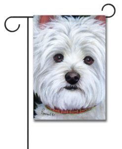 West Highland Terrier Angel Face- Garden Flag - 12.5'' x 18''