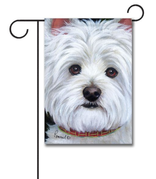 West Highland Terrier Angel Face- Garden Flag - 12.5'' x 18''