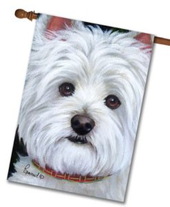 West Highland Terrier Angel Face- House Flag - 28'' x 40''