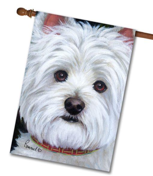 West Highland Terrier Angel Face- House Flag - 28'' x 40''
