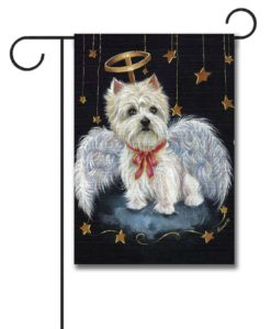 West Highland Terrier Angel- Garden Flag - 12.5'' x 18''