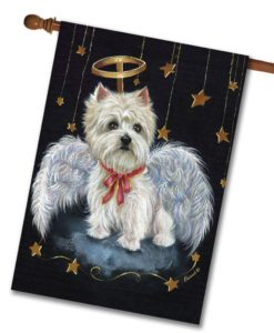 West Highland Terrier Angel- House Flag - 28'' x 40''