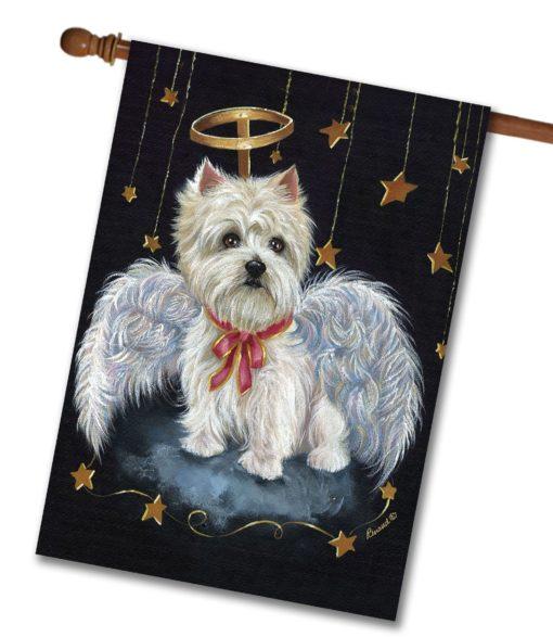 West Highland Terrier Angel- House Flag - 28'' x 40''