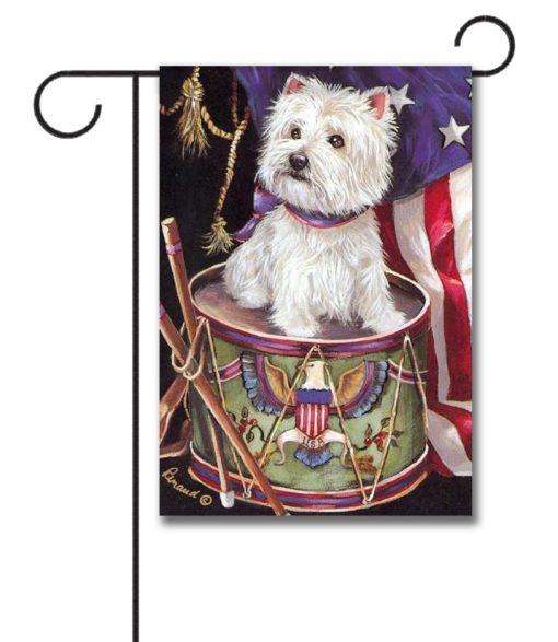 West Highland Terrier Patriotic- Garden Flag - 12.5'' x 18''
