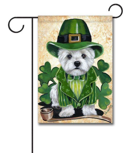 West Highland Terrier St. Patrick's Day- Garden Flag - 12.5'' x 18''
