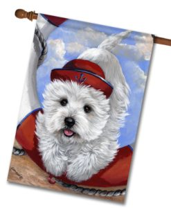 West Highland Terrier Sailor - House Flag - 28'' x 40''