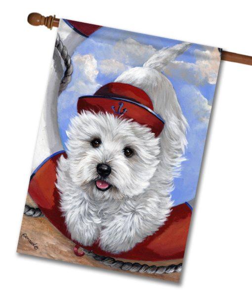 West Highland Terrier Sailor - House Flag - 28'' x 40''