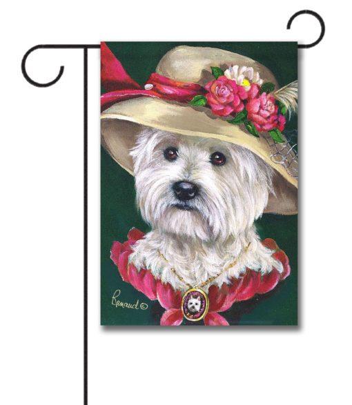 West Highland Terrier Lady Evelyn- Garden Flag - 12.5'' x 18''