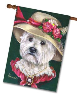West Highland Terrier Lady Evelyn- House Flag - 28'' x 40''