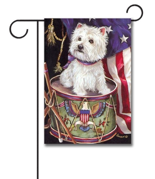 West Highland Terrier Lil Drummer- Garden Flag - 12.5'' x 18''