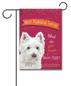 West Highland Terrier- Garden Flag - 12.5'' x 18''
