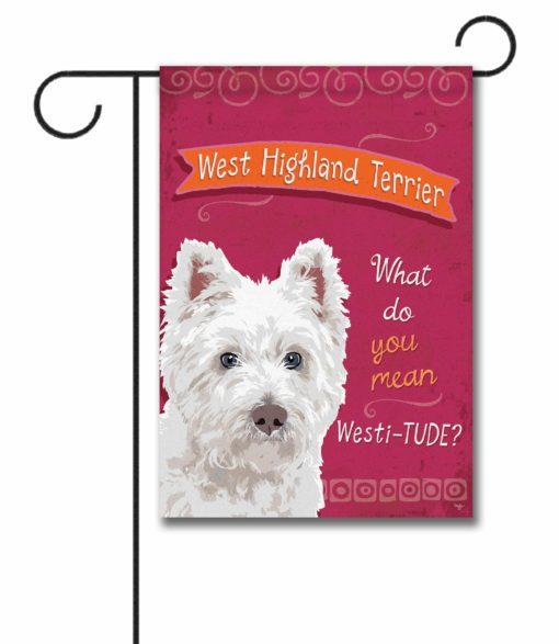 West Highland Terrier- Garden Flag - 12.5'' x 18''