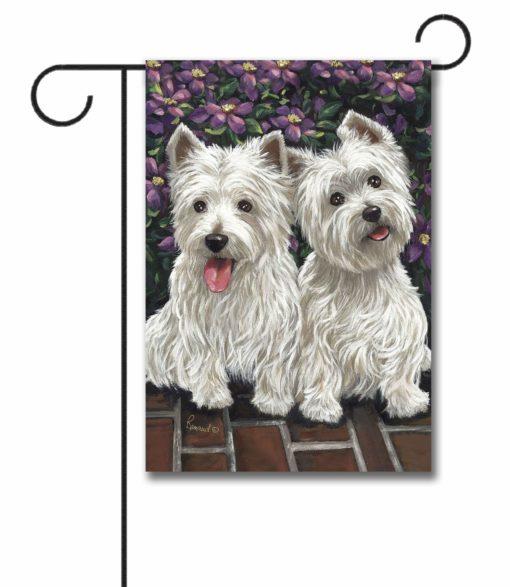 West Highland Terrier Molly Glennie- Garden Flag - 12.5'' x 18''