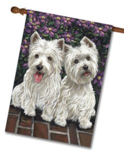 West Highland Terrier Molly Glennie- House Flag - 28'' x 40''