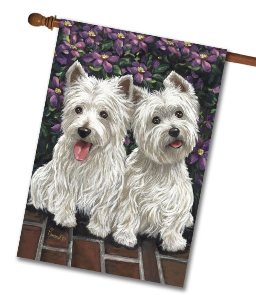 West Highland Terrier Molly Glennie- House Flag - 28'' x 40''