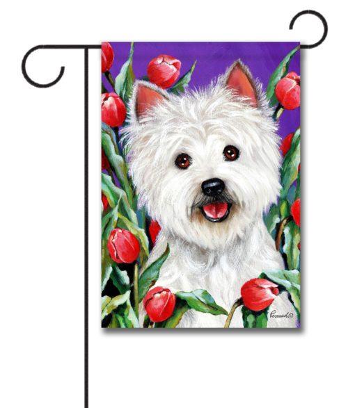 West Highland Terrier Peek-a-boo- Garden Flag - 12.5'' x 18''
