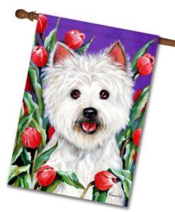 West Highland Terrier Peek-a-boo- House Flag - 28'' x 40''