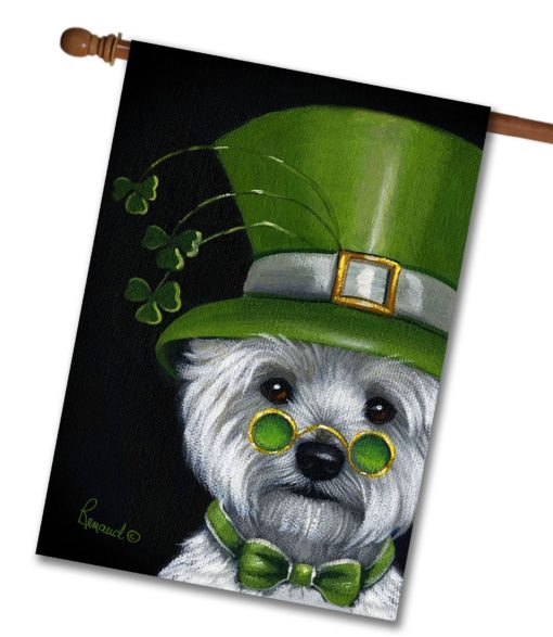 West Highland Terrier Elder Lep - House Flag - 28'' x 40''