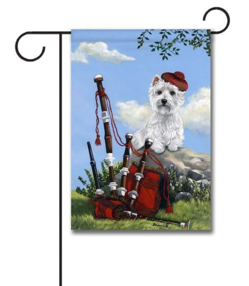 West Highland Terrier Scottie Piper- Garden Flag - 12.5'' x 18''