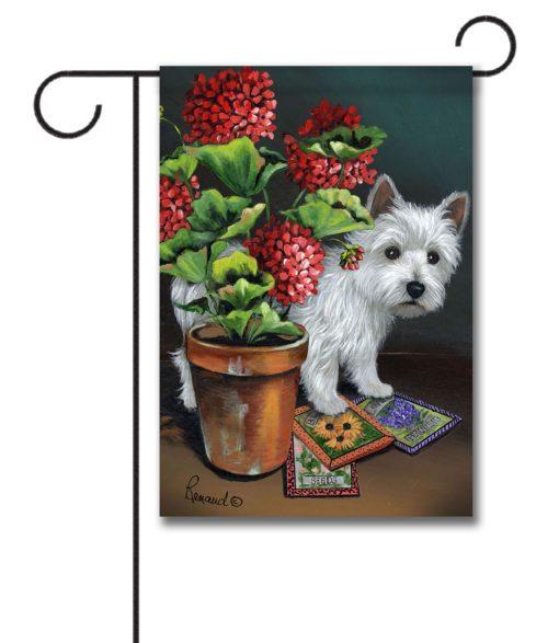 West Highland Terrier Seedlings- Garden Flag - 12.5'' x 18''