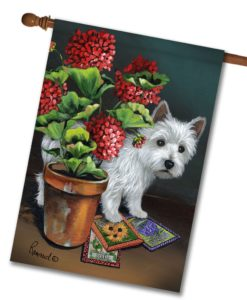 West Highland Terrier Seedlings- House Flag - 28'' x 40''