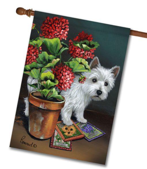 West Highland Terrier Seedlings- House Flag - 28'' x 40''