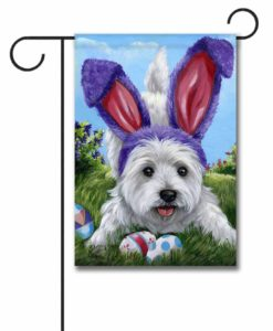 West Highland Terrier Egg Hunt - Garden Flag - 12.5'' x 18''