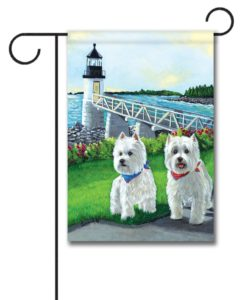 West Highland Terrier Schooner & Annie - Garden Flag - 12.5'' x 18''
