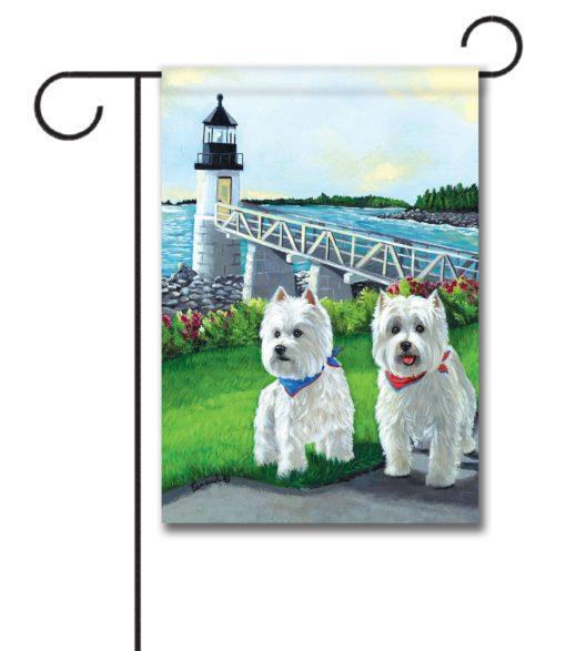 West Highland Terrier Schooner & Annie - Garden Flag - 12.5'' x 18''