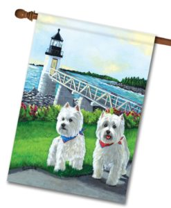 West Highland Terrier Schooner & Annie - House Flag - 28'' x 40''