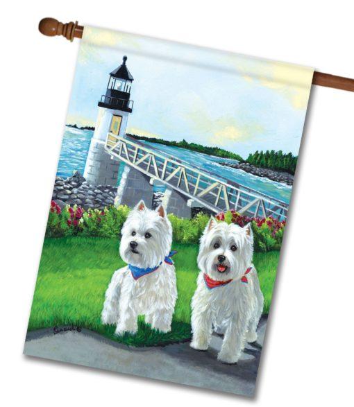West Highland Terrier Schooner & Annie - House Flag - 28'' x 40''