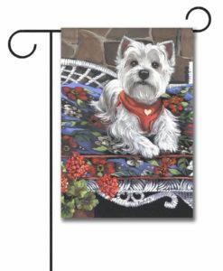 West Highland Terrier Hannah Mae for Charity - Garden Flag - 12.5'' x 18''