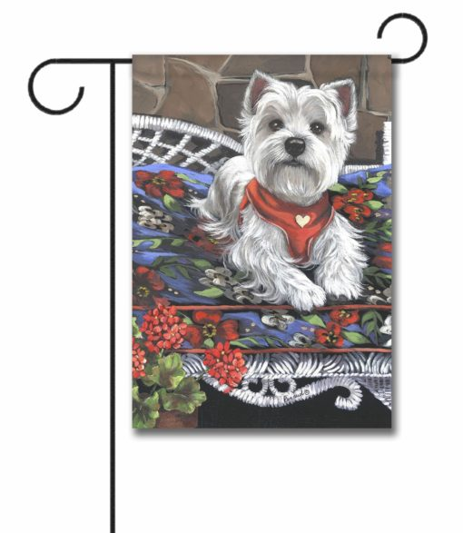 West Highland Terrier Hannah Mae for Charity - Garden Flag - 12.5'' x 18''