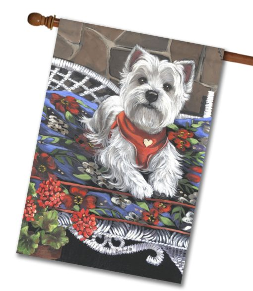 West Highland Terrier Hannah Mae for Charity - House Flag - 28'' x 40''