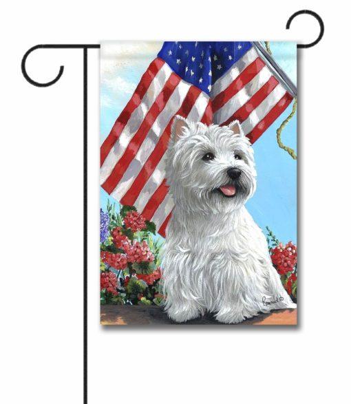 West Highland Terrier USA- Garden Flag - 12.5'' x 18''