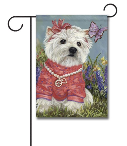 West Highland Terrier Westie Butterfly- Garden Flag - 12.5'' x 18''