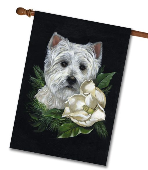 West Highland Terrier White on White- House Flag - 28'' x 40''