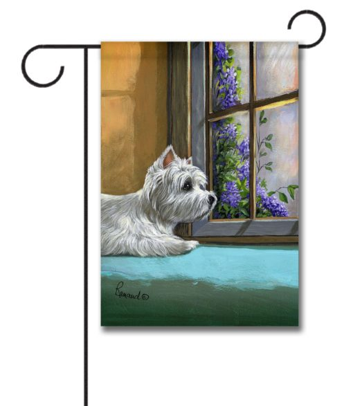 West Highland Terrier Zoes World- Garden Flag - 12.5'' x 18''