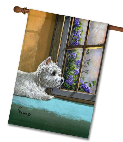 West Highland Terrier Zoes World- House Flag - 28'' x 40''