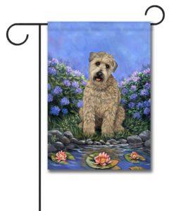 Wheaten Terrier's Pad- Garden Flag - 12.5'' x 18''